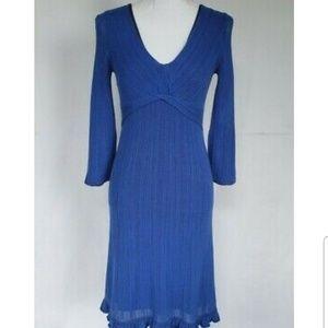 Karen Millen Blue Sweater Dress US 2